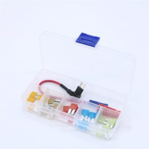 25 pcs Add-A-Circuit Blade Style ATR Micro2 In-line Fuse Holder Fuse Tap Fuse Puller & Micro2 Fuse Set