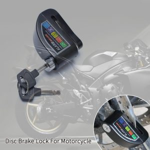Motorcycle Scooter Bicycle Anti-theft Wheel Disc Brake Lock Security Alarm Black