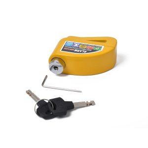 Motorcycle Scooter Bicycle Anti-theft Wheel Disc Brake Lock Security Alarm Yellow