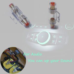 Car Audio Inline AGU Fuse 4 / 8 Gauge AGU Fuse Holder Gold Plated