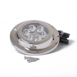 10-30V 316 STAINLESS MARINE 6 LED WHITE UNDERWATER LIGHT BOAT 6*2W HIGH POWER BRIGHT