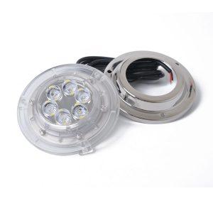 12V/24V 6*2W 316 STAINLESS MARINE 6 LED BLUE UNDERWATER LIGHT IP68 HIGH POWER BRIGHT