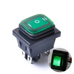 On-Off-On 6 Pin 12V Car Boat LED Light Rocker Toggle Switch Latching Waterproof