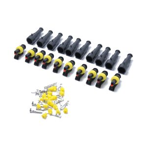10 Kits 1 Pin Way Sealed Waterproof Electrical Wire Connector Plug Terminal Car Auto Set