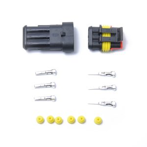 10 Kits 3 Pins Way Sealed Waterproof Electrical Wire Connector Plug Terminal Car Auto Set