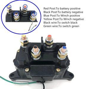12V Solenoid Relay Contactor & Winch Rocker Thumb Switch COMBO for ATV UTV