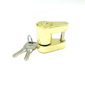 Trailer Coupler Padlock 1/4″ Pin Size Trailer Coupler Hitch Keyed Padlock Lock