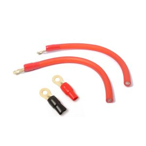 0 Gauge Red Amplifier Power / Ground Wire 1/0 Ga Amp Cable Terminal for Diy Audio Modification