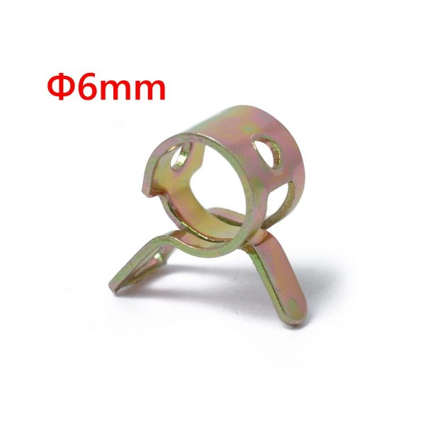 10pc 6mm Car Spring Clip Fuel Line Hose Clip Water Pipe Air Tube Clamp Fastener