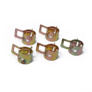 10pc 9mm Car Spring Clip Fuel Line Hose Clip Water Pipe Air Tube Clamp Fastener