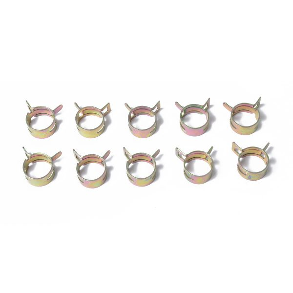 10pc 8mm Car Spring Clip Fuel Line Hose Clip Water Pipe Air Tube Clamp Fastener
