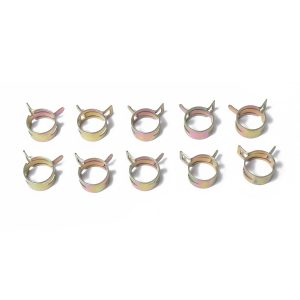 10pc 20mm Car Spring Clip Fuel Line Hose Clip Water Pipe Air Tube Clamp Fastener