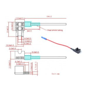 10 x Mini Add-a-circuit Car Auto Low Profile Blade Style 15A In-line Fuse Holder