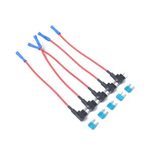 15A Mini Add-a-circuit Car Auto Low Profile Blade Style In-line Fuse Holder 5pcs