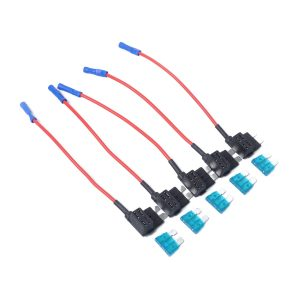 10 x Add-a-circuit Car Auto Low Profile Blade Style In-line Fuse Holder Fuse Box 15A