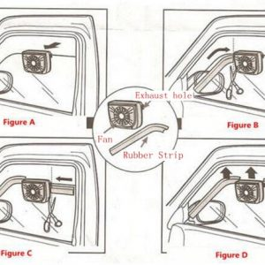 Solar Powered Car Auto Cooler Ventilation Fan Automobile Air Vent Exhaust Heat Fan with Rubber Strip