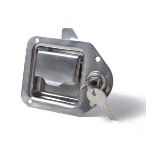 Stainless Steel Paddle Latch 110MMx83MM& w/ Keys for Tool Box Lock Trailer Caravan Truck
