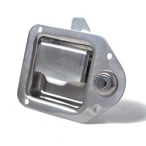 2 X Stainless Steel Paddle Latch 110MMx83MM w/ Keys for Tool Box Lock Trailer Caravan Truck
