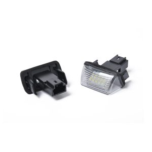 2 x New LED License Plate Light Lamp Replacement 6340A3 fit for Citroen C3 C4 C5 Picasso Saxo with Licence frame