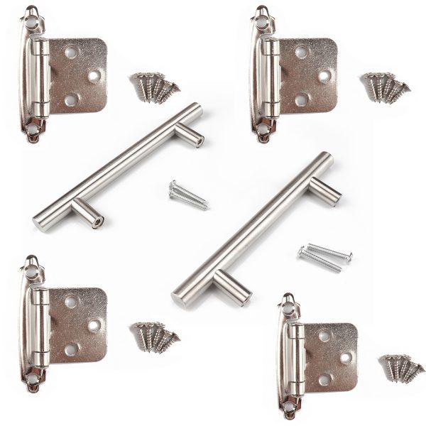 Trailer, RV, American hinges, stainless steel European simple handle set