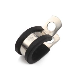 10pcs Rubber Cushion Insulated Clamp Stainless Steel Cable Clamp for Auto industrial home DIY.