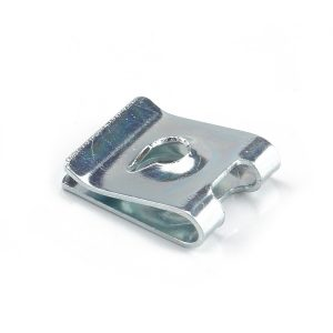 100 PCS Retainer Self-Tapping Fastener Brass Blue and White Zinc Spring U Clip Nut No.4 For Car