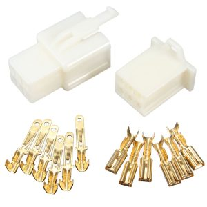 5sets 6 Way 2.8mm Connector Terminal Kit For Car Motorcycle Pin Blade Scooter ATV