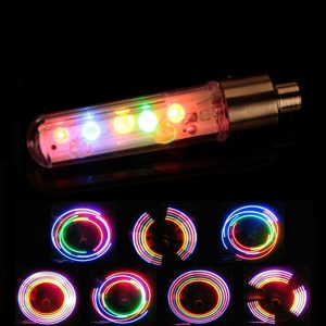 Wheel Tyre Spoke Valve Cap Neon 5 LED Lights Lamp 32 Modes for Bicycle Bikes