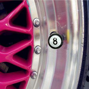 8pcs Universal Car Truck Motor Bike Pool 8 Ball Tire Air Valve Stem Caps Wheel Rim Caps Bolt