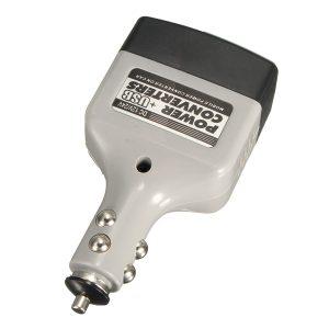 Car Charger Power Inverter Adapter Converter USB Outlet DC 12V 24V to AC 220V