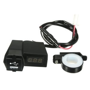 12V 3.1A Waterproof Voltage Volt Meterr USB Power Charger Socket For Motorcycle ATV Scooter