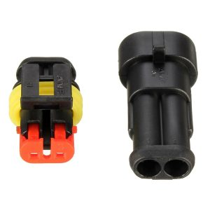Waterproof PA66 2 Pin Way Wire Connector Terminals For Motorcycle Electrical Car Truck