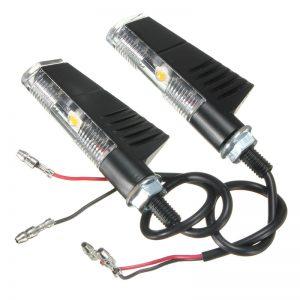 12V Motorcycle LED Turn Signal Lights Indicator Blinker Universal Retro