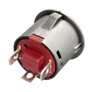 2pcs 12V 22mm LED Auto-lock Power Push Button ON/Off Switch Red