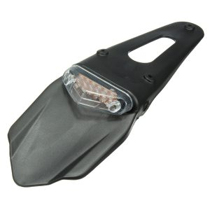 Motorcycle Fenders 12 LED Lamp Stop Break Rear Tail Red Light Universal