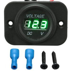12V-24V Waterproof LED Volt Meter Voltage Gauge For Motorcycle Car Boat Marine