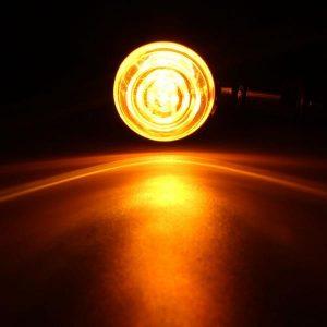 4pcs 10mm Motorcycle Bullet Turn Signal Indicator Light For Harley Davidson Cruiser Chopper Chrome