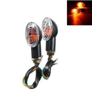 2pcs Turn Signal Indicators Motorcycle Light Amber Blinker