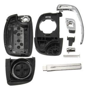 4 Button Folding Flip Remote Key Shell Case Fob+BladefFor HYUNDAI ix45 Santa Fe