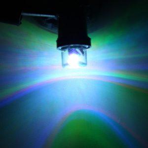 2Pcs BA9S Colorful 5Lm 0.1W 1SMD LED Side Indicator Light Side Light Bulb