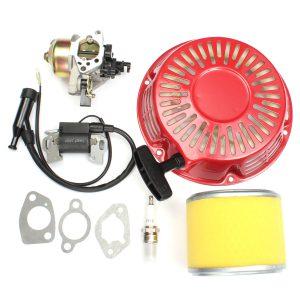 Carburetor Recoil Filter Ignition Coil Plug Kit For Honda GX340 11HP GX390 13HP