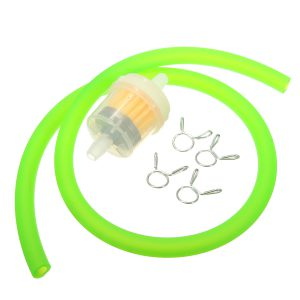 6mm Gas Fuel Filter Petrol Pipe Hose Line 4 Clips Universal Motorcycle Dirt Bike
