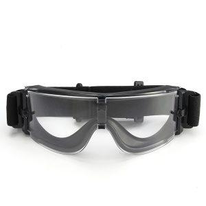 A Set 3 Lens Anti Shock Bulletproof CS Goggles Outdoor Shooting Anti-UV Glasses