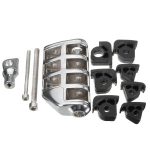 Chrome Motorcycle Front&Rear Footrest Pegs Pedals For Harley Davidson