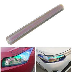 30cmx120cm Transparent Tint Film Sticker Decal Wrap for Headlight Fog Light Tail Lamp