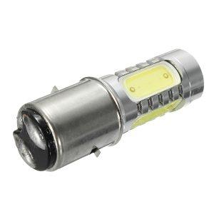 BA20D H16 4 COB LED White Bulb Light For Motor Bike Moped Scooter ATV Headlight