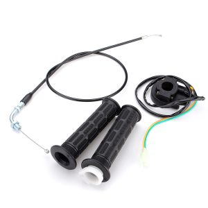 Handle Grips Throttle Cable Kill Switch For 49cc-80cc Motorized Bicycle Push Bike