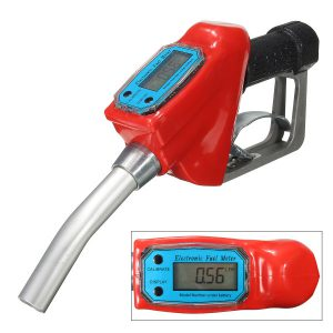 Auto Motorcycle Electronic Fuel Flow Meter Gasoline Petrol Oil Delivery Tool 1 inch Nozzle Dispenser