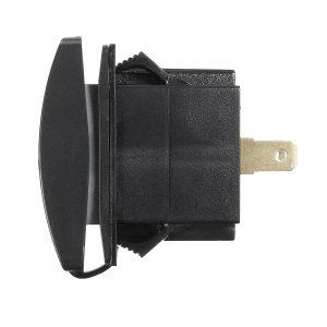 12V~24V Green LED Backlit Car Boat Dual USB Charger 5V 3.1A Output Rocker Switch