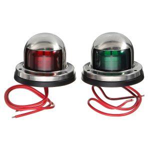 Yacht Light 12V Stainless Steel LED Bow Red Green Navigation Lights Marine Boat